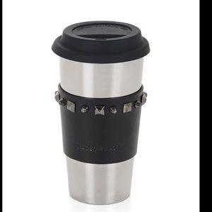 BCBGMAXAZRIA Studded-Leather Sleeve Ceramic Mug